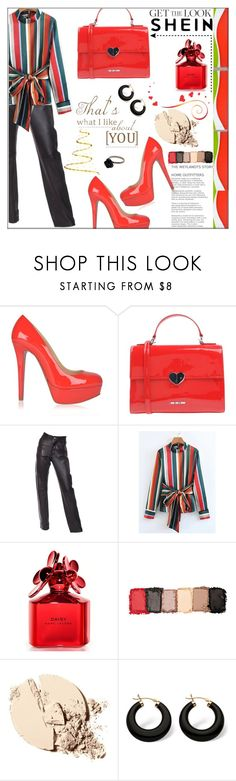 """""""#shein"""" by bilbomex ❤ liked on Polyvore featuring Christian Louboutin, Love Moschino, Helmut Lang, Marc Jacobs and Palm Beach Jewelry"""