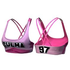 Dragon Ball Bulma 97 Pink Cosplay Gym Workout Compression Sports Bras. #DragonBall #Bulma #97 #Pink #Cosplay #Gym #Workout #Compression #SportsBras