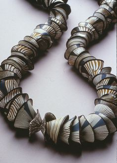 Cynthia Toops. 'Barnacle' Polymer Clay necklace.