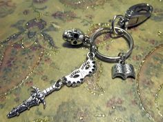 SHAKESPEARE Keychain with FOUR Charms - Custom Orders Welcome