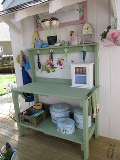 Awaiting! Potting Bench/Table Addition