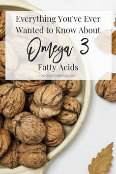 Everything You've Ever Wanted to Know About Omega 3 Fatty Acids Omega 3, Clean Eating Vegetarian, Healthy Eating, Fatty Acid Foods, Smart Nutrition, Food Facts, Dietitian, Recipes, Confidence