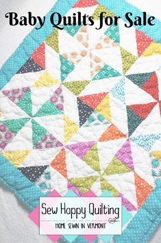 There are numerous baby quilts for sale in my Etsy shop along with handmade quilted pot holders, table runners, mug rugs and more! All items are home sewn in Vermont at Sew Happy Quilting. Gifts For New Moms, Gifts For Kids, Easy Baby Blanket, Handmade Baby Quilts, Home Sew, Quilts For Sale, Quilted Wall Hangings, Green Fabric, Baby Sewing