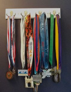 swim ribbon display   Swimming, Biking / Was going to get one of those fancy medal displays ...