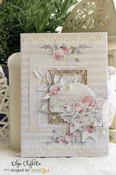 Beautiful and soft wedding mini album made with The Rose Avenue collection #cardmaking #studio75 #scrapbooking #minialbum