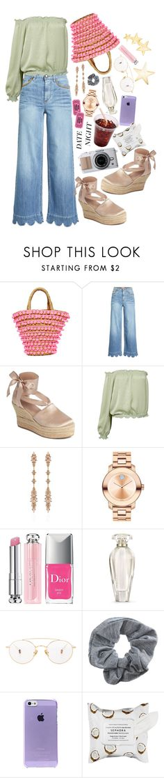 """""""Smokin' Hot: Summer Date Night"""" by shudenbaun ❤ liked on Polyvore featuring Mystique, RED Valentino, Tory Burch, Sans Souci, Fernando Jorge, Movado, Christian Dior, Victoria's Secret, Ahlem and Topshop"""