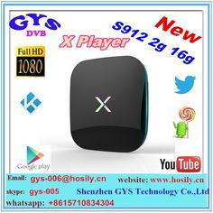 2016 best android box Amlogic s912 android 16.0 kodi 17.0 2.4g +5g dual wifi+BT Octa core X player tv box #android, #best