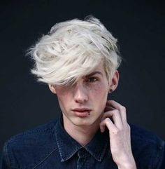 Wavy White Hair Men ++ so this is def the hair I want