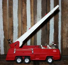 Vintage 1970s 70s Red Metal Tonka Fire Truck Toy by UrsMineNours