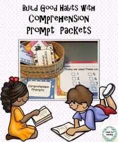 8 question stems to prompt development of good comprehension habits.  Cute packets to keep handy for a volunteer, tutor or peer reader.   $