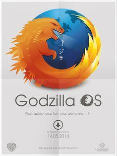 Graphiste Freelance: Godzilla OS
