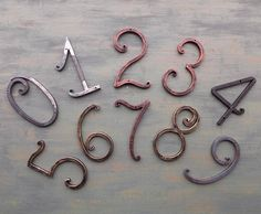 House Number / house address / Metal House Numbers 5 inch/ Address numbers /Metal house number/ Address numbers / home address /Rustic decor – Home Accessories Horseshoe Letters, Horseshoe Projects, Metal House Numbers, Door Numbers, Address Numbers, Metal On Metal, Scrap Metal Art, Wrought Iron Decor, House Address