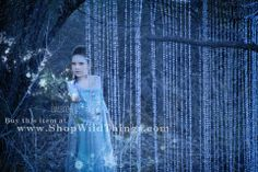 """Frozen"" inspired photo shoot using our Lafayette bead curtains to recreate Princess Elsa's frozen ice palace.  Photography by www.embreephotography.com and used with permission."