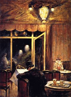 Image result for The Café Terrance, 1887-1889 by Childe Hassam