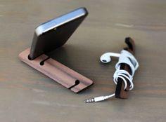 Iphone phone stand, Modern Phone stand, Walnut Phone Stand