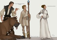 Orlesians, Ferelden Han can't deal. by @parttimedragon on Tumblr. Tags: #look at chewie #look at hiiimmm #apostate hobo luke #orlias #ferelden #han #princess leia #luke #starwars #bioware #dragon age #dragonwars
