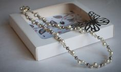 Cream pearl and silver necklace by ButterflyJade on Etsy https://www.etsy.com/listing/209730724/cream-pearl-and-silver-necklace