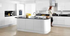 The Kitchen Work Triangle. Kitchen Design Tips. White Gloss Kitchen, Kitchen Triangle, Gloss Kitchen, Bold Kitchen, New Kitchen, Kitchen Dining Room, Wren Kitchen, Home Kitchens, Kitchen Design
