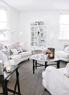 White on white cottage room - LOVE it!