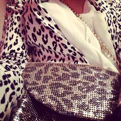 Leopard on leopard on leather