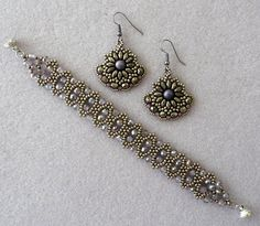 Linda's Crafty Inspirations: Dana's Gypsy Earrings - Antique Silver & Mauve