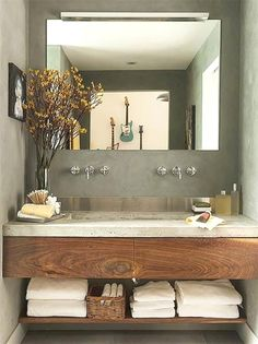 30 ideas para combinar tus muebles de baño de estilo actual · 30 ideas to combine your bathroom furniture Bad Inspiration, Bathroom Inspiration, Bathroom Ideas, Bathroom Remodeling, Bathroom Designs, Bathroom Sinks For Sale, Small Bathroom Vanities, Bathroom Makeovers, Bathroom Basin