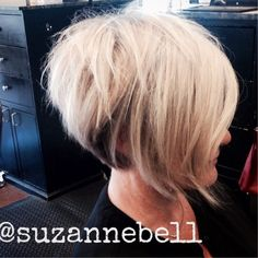 Tousled Stacked Blonde Bob