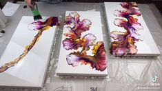 Flow Painting, Pour Painting, Abstract Painting Techniques, Acrylic Pouring Techniques, Abstract Canvas Art, Diy Canvas Art, Acrylic Pouring Art, Acrylic Art, Art Tutorials