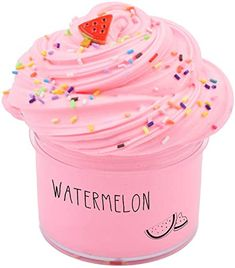 Amazon.com: Sunool Butter Slime Pink Watermelon,Butter Slime Putty Stress Relief and Scented Sludge Toy 7oz: Toys & Games