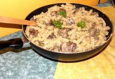 Fussilli zöldborsóval és csirkemájjal | NOSALTY Fusilli, Rigatoni, Gnocchi, Wok, Love Food, Risotto, Ethnic Recipes, Kitchen, Cooking