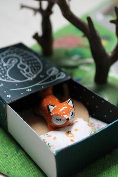 Objets de collection, Ma Boîte à Totem Renard oMamawolf - est une création orginale de oMamawolf sur DaWanda