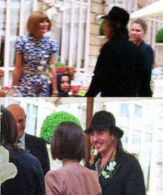 Is Anna Wintour Making Nice With John Galliano (Srsly, Is That Him)