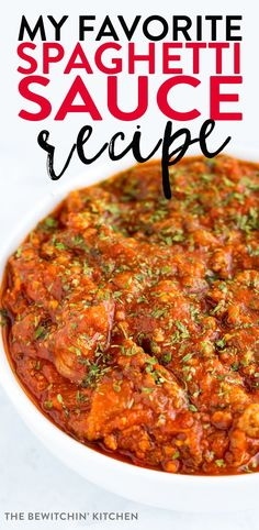 My favorite spaghetti sauce ever! This is THE WORLD'S BEST SPAGHETTI SAUCE! This homemade, low carb, easy, recipe uses ground beef and hot italian sausage and oh it tastes so amazing. Best Spaghetti Recipe, Sauce Spaghetti, Homemade Spaghetti Sauce, Spaghetti Recipes, Pasta Recipes, Beef Recipes, Cooking Recipes, Sauce Recipes, Dinner Recipes