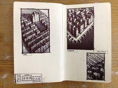 Thumbnail Sketches XVI (biro)  - Jim Edwards