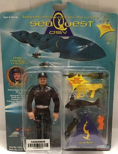 (TAS020839) - 1993 Playmates Seaquest DSV Figure - Chief Manilow Crocker