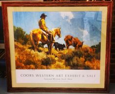 In honor of the @National Western Stock Show Stock Show we present this Limited Edition print framed in the @Larson-Juhl Brittany line! #art #framing #denver #colorado #nwss