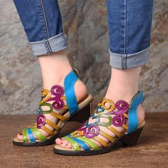 Socofy SOCOFY Super Comfy Hollow Genuine Leather Love Shape Soft Hook Loop Low Heel Sandals is comfortable to wear. Shop on NewChic to see other cheap women sandals on sale Mobile. Low Heel Sandals, Low Heels, Pump Shoes, Shoes Sandals, Dress Shoes, Love Shape, Georgia, Kegel, Sandals For Sale