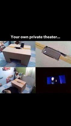 Cool idea! Pritvate theatre
