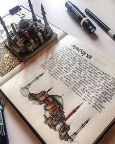 Detailed Drawings on Behance Sketchbook Architecture, Gcse Art Sketchbook, Travel Sketchbook, Art And Architecture, Sketchbook Inspiration, Bullet Journal Inspiration, Sketchbook Ideas, Art Altéré, Detailed Drawings