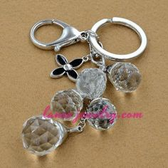 Transparent acrylic beads pendants key chain