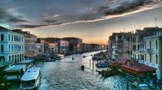 A view from Rialto Tower in Venice, Italy.