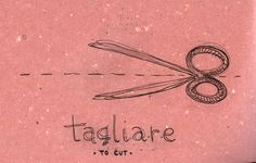 Italian Language ~ Tagliare (To Cut) Italian Grammar, Italian Vocabulary, Italian Words, Italian Quotes, Italian Language, Korean Language, Japanese Language, Italian Lessons, French Lessons