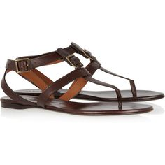 Burberry Shoes & Accessories Leather T-bar sandals ($199) found on Polyvore - WAY to pricey! ..that's ok- they're sold out anyway.