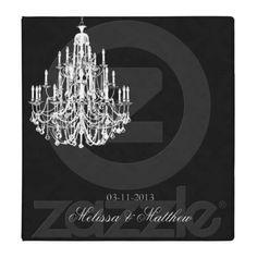 Chandelier Black Damask 3 Ring Binders $22.75