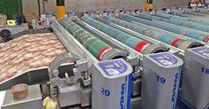 rotary screen printing machine Types Of Printing, Printing Process, Printing On Fabric, Digital Printing Machine, Screen Printing Machine, Textiles, Textile Prints, Rotary Screen Printing