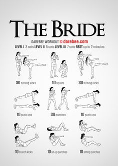 The Bride Workout - Concentration - Full Body DIfficulty 3 - Suitable for Beginners