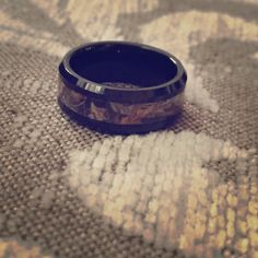 Tungsten camouflage ring ❤️ Tungsten carbide ring with camo, never worn Jewelry Rings
