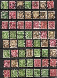 56 US Washington-Franklin Definitive issues stamps # 632 -1¢ Franklin precancel#