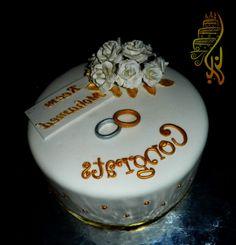 Elegant Engagement Ring Cakes
