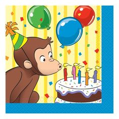 Celebrate with the Curious George Beverage Napkins for your party. Find amazing selections & prices on all birthday decorations & supplies at Birthday in a Box. Curious George Party, Curious George Birthday, 1st Birthday Party Supplies, 1st Birthday Parties, Birthday Ideas, Birthday Quotes, Birthday Decorations, 3rd Birthday, Birthday Cakes